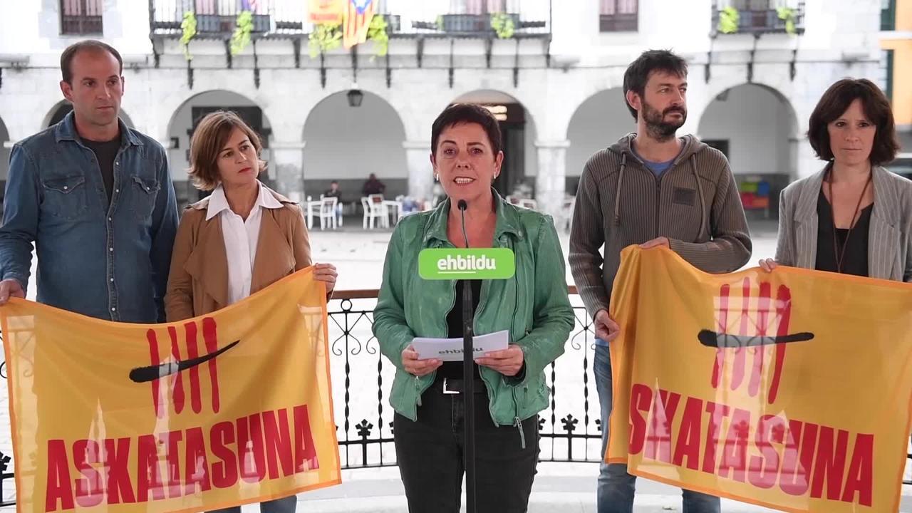 EH Bilduk bat egin nahi du Kataluniaren aldeko elkartasun olatuarekin