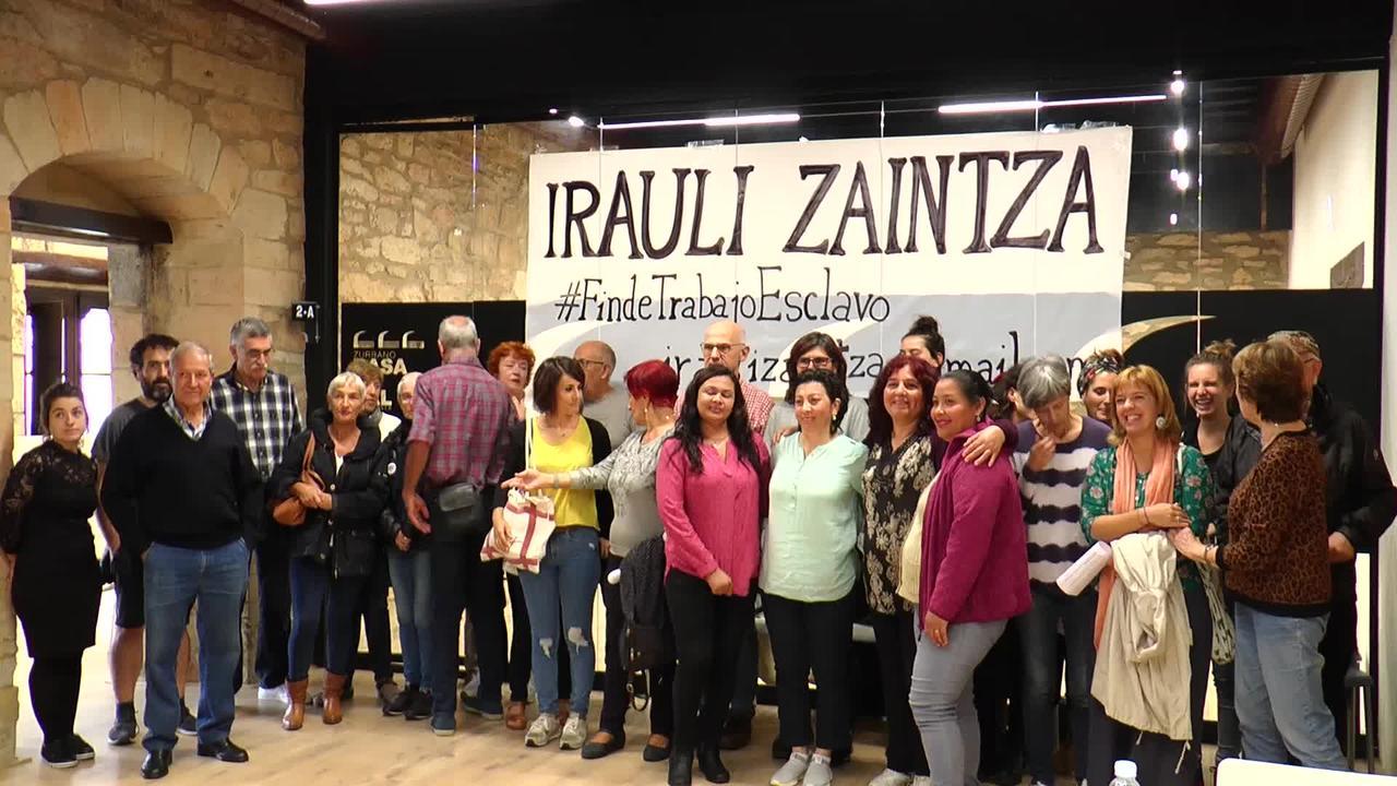 Irauli Zaintza plataforma, emakume migranteen lan baldintzak hobetzera.