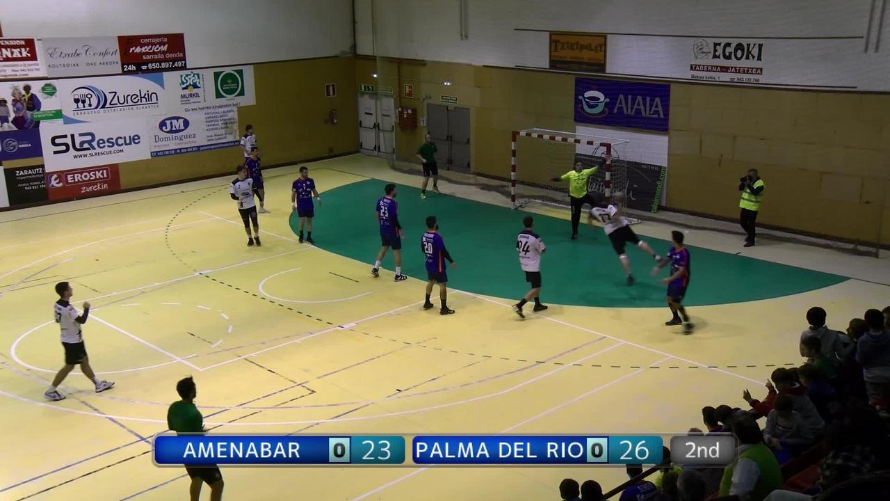 Amenabar Zarautzek ezin izan zuen garaitu Palma del Rio  Cordobako taldea. (24-26)