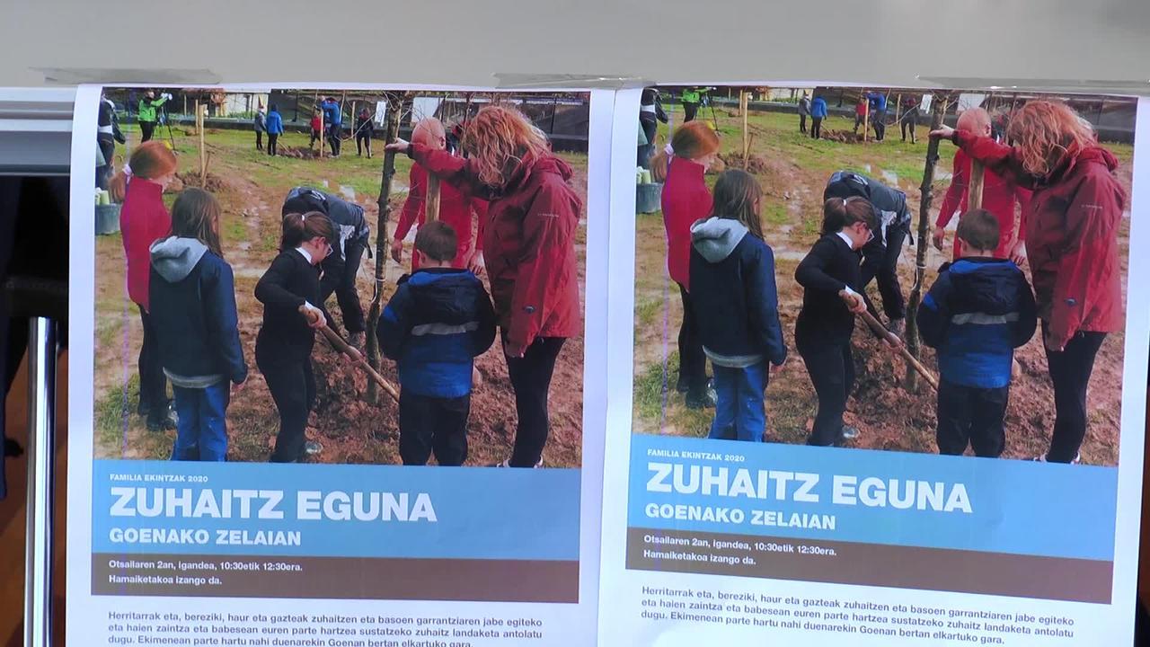 Zuhaitz eguna ospatuko da igandean