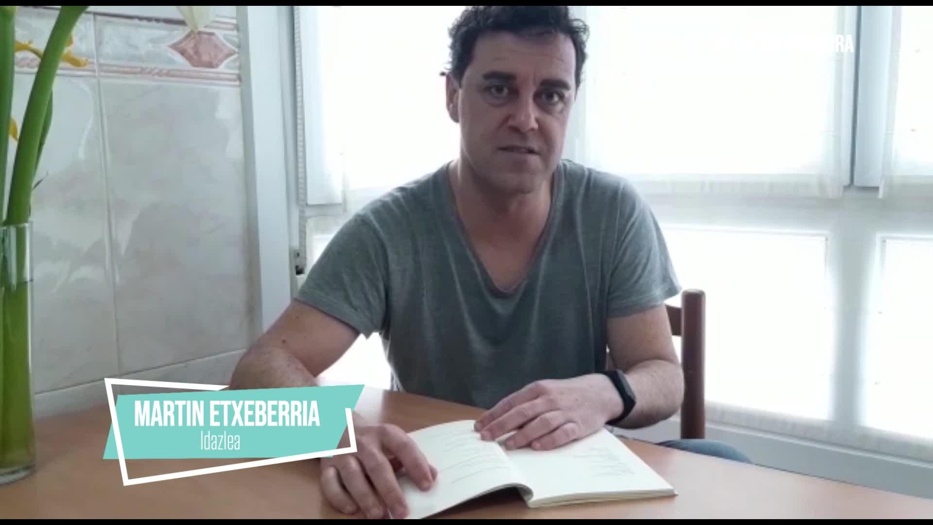 Martin Etxeberria idazlearen irakurketa, etxetik mundura