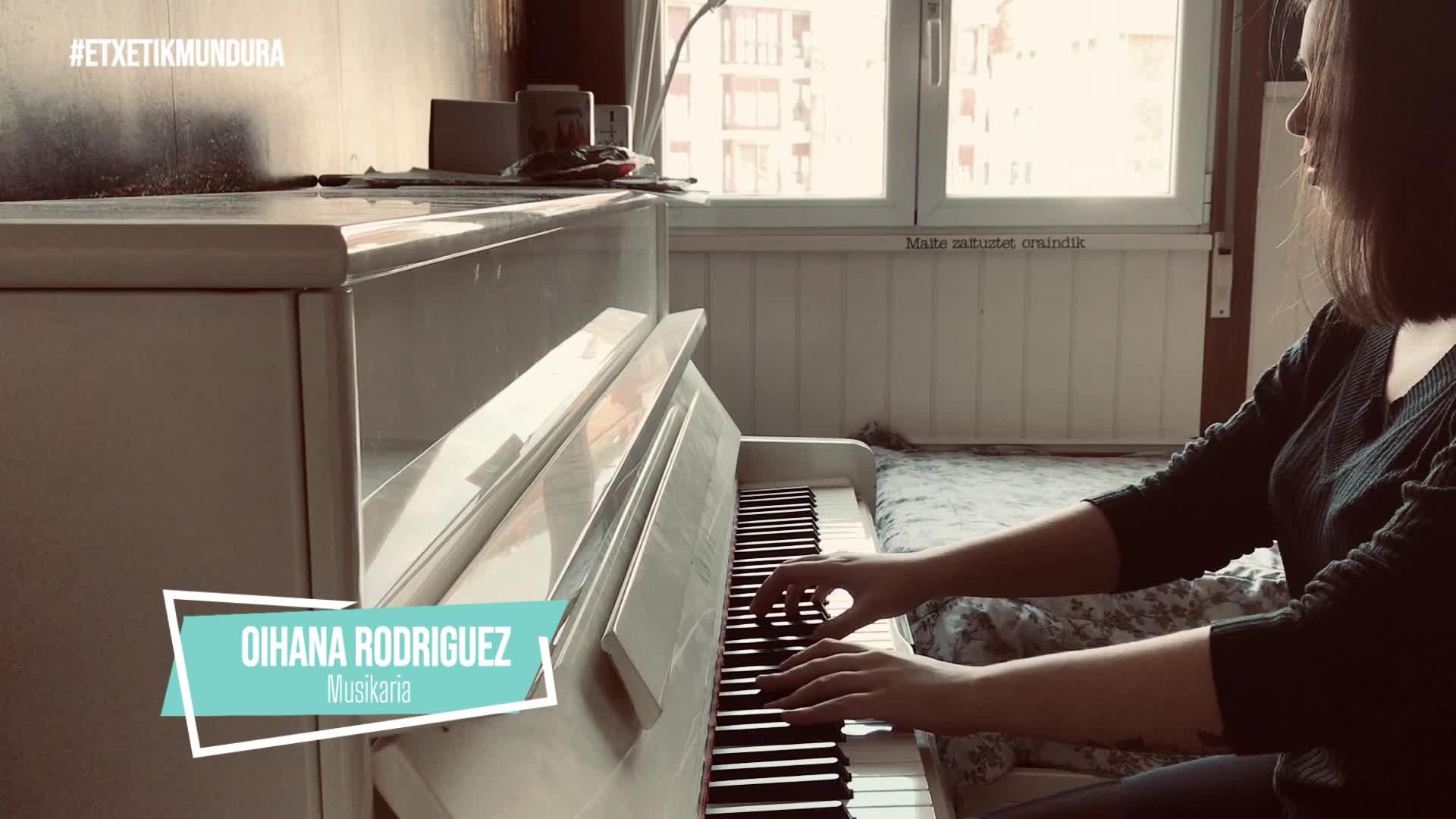 Oihana Rodriguez musika, etxetik mundura