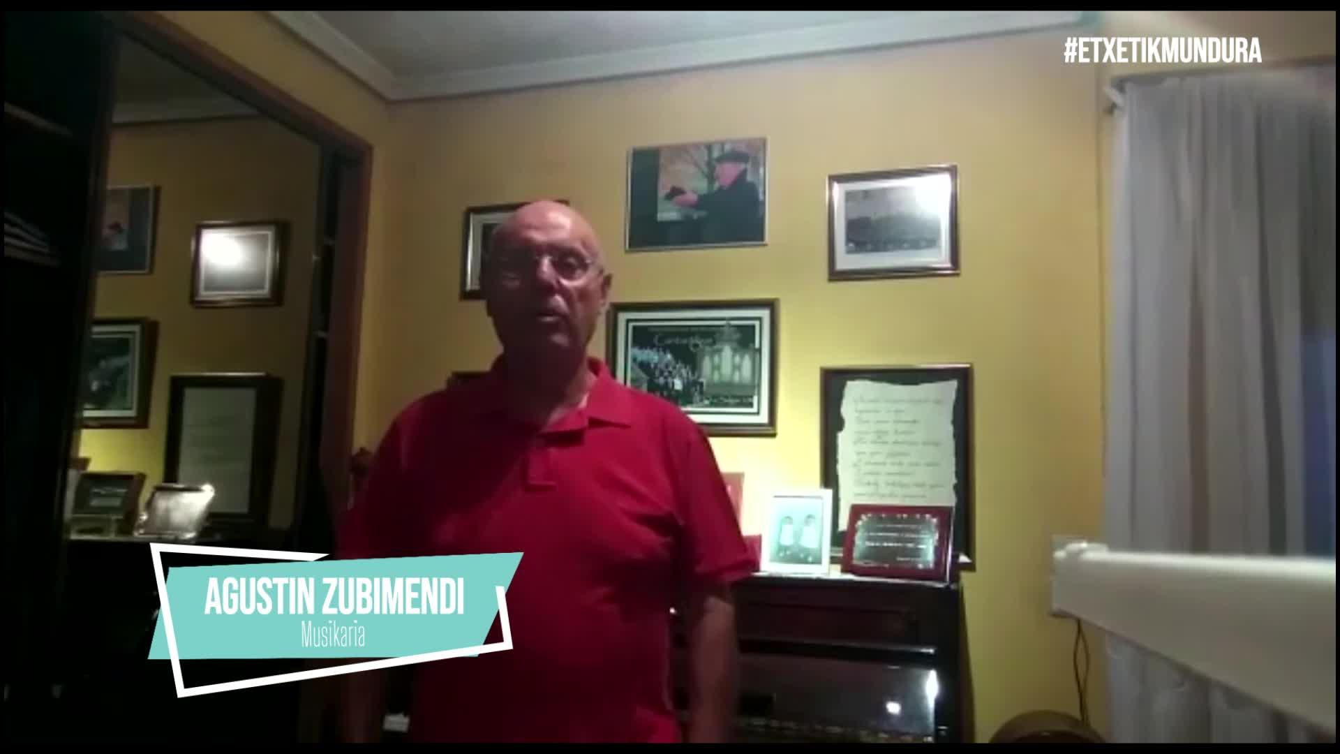 Agustin Zubimendi musikaria, etxetik mundura