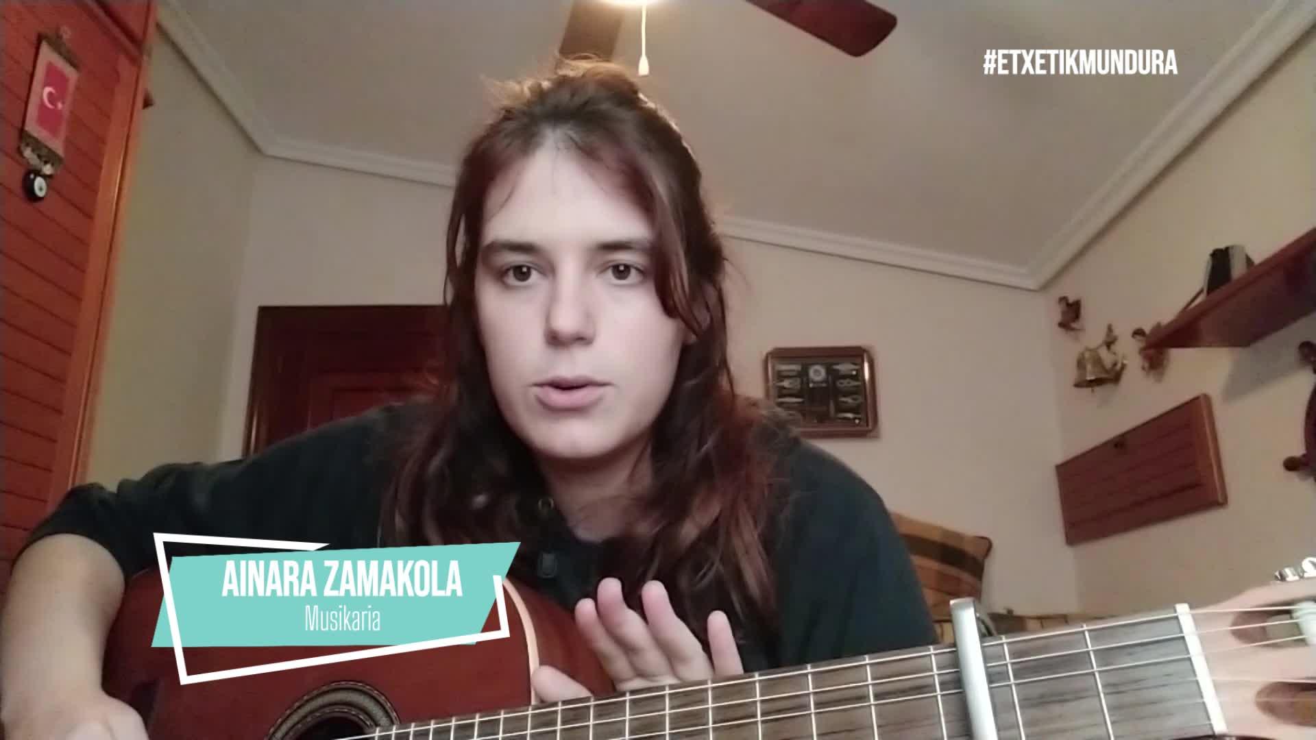 Ainara Zamakolaren musika, etxetik mundura