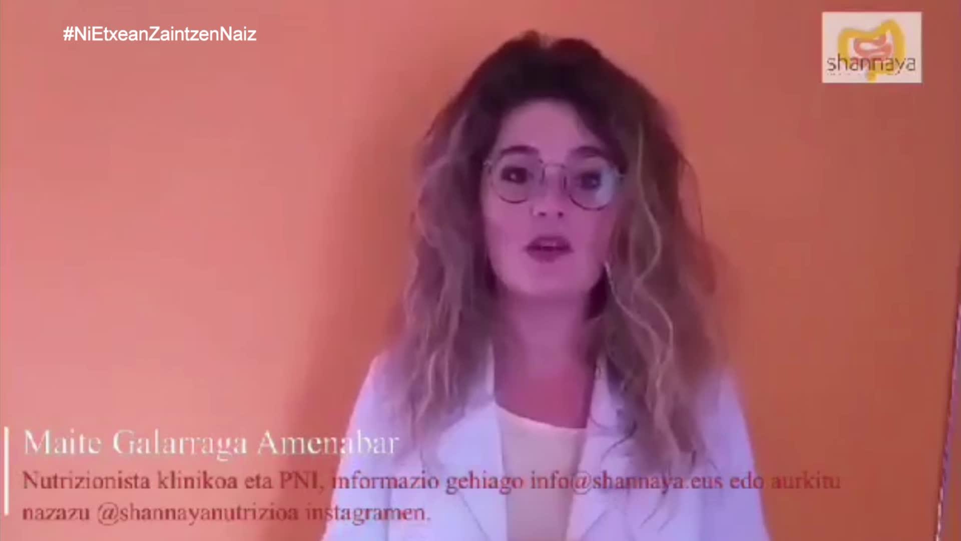 #NiEtxeanZaintzenNaiz  Maite Galarraga nutrizionista