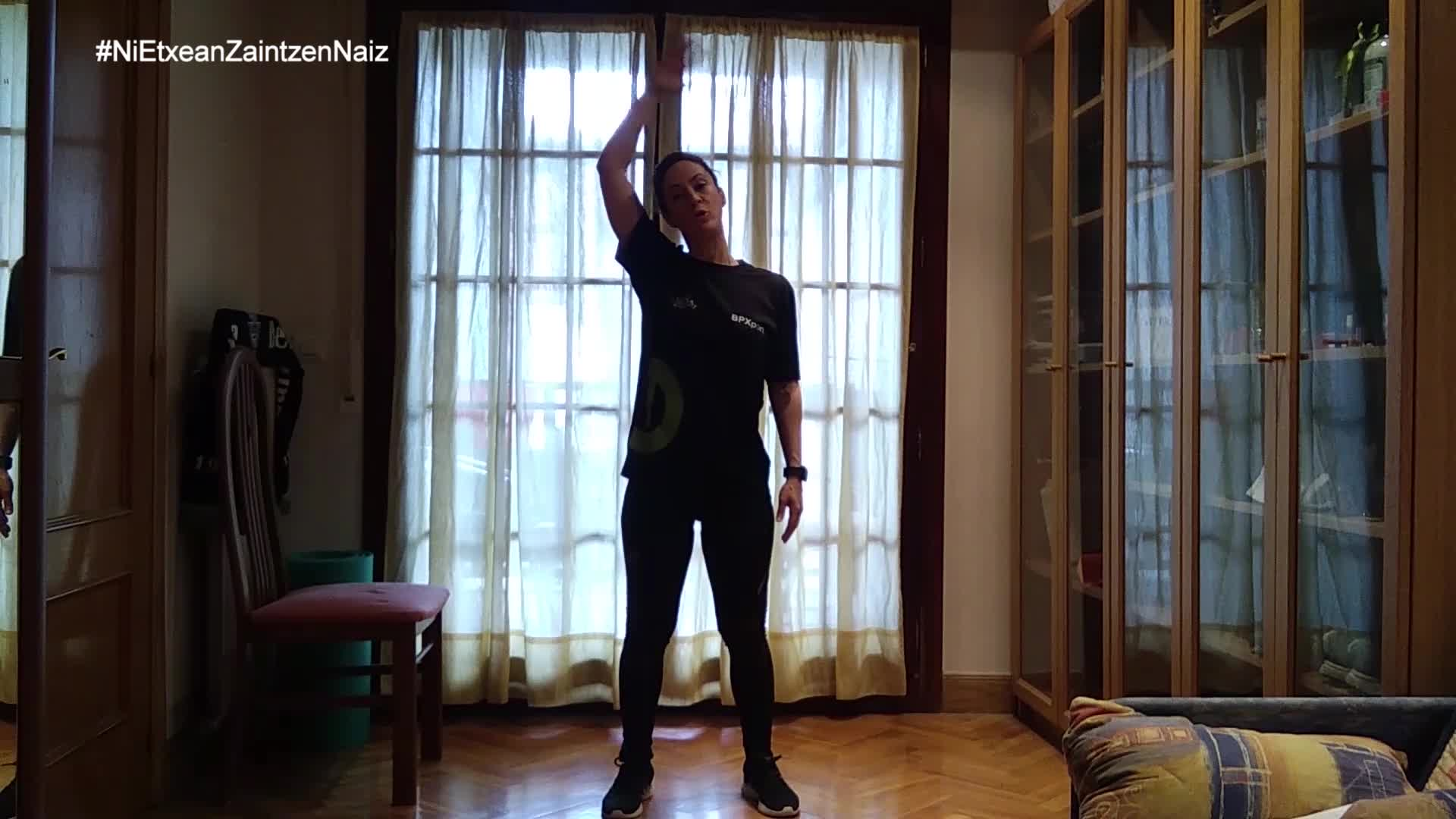 #NiEtxeanZaintzenNaiz: Zarauzko kiroldegiko begiraleen adinekoen 24. saioa