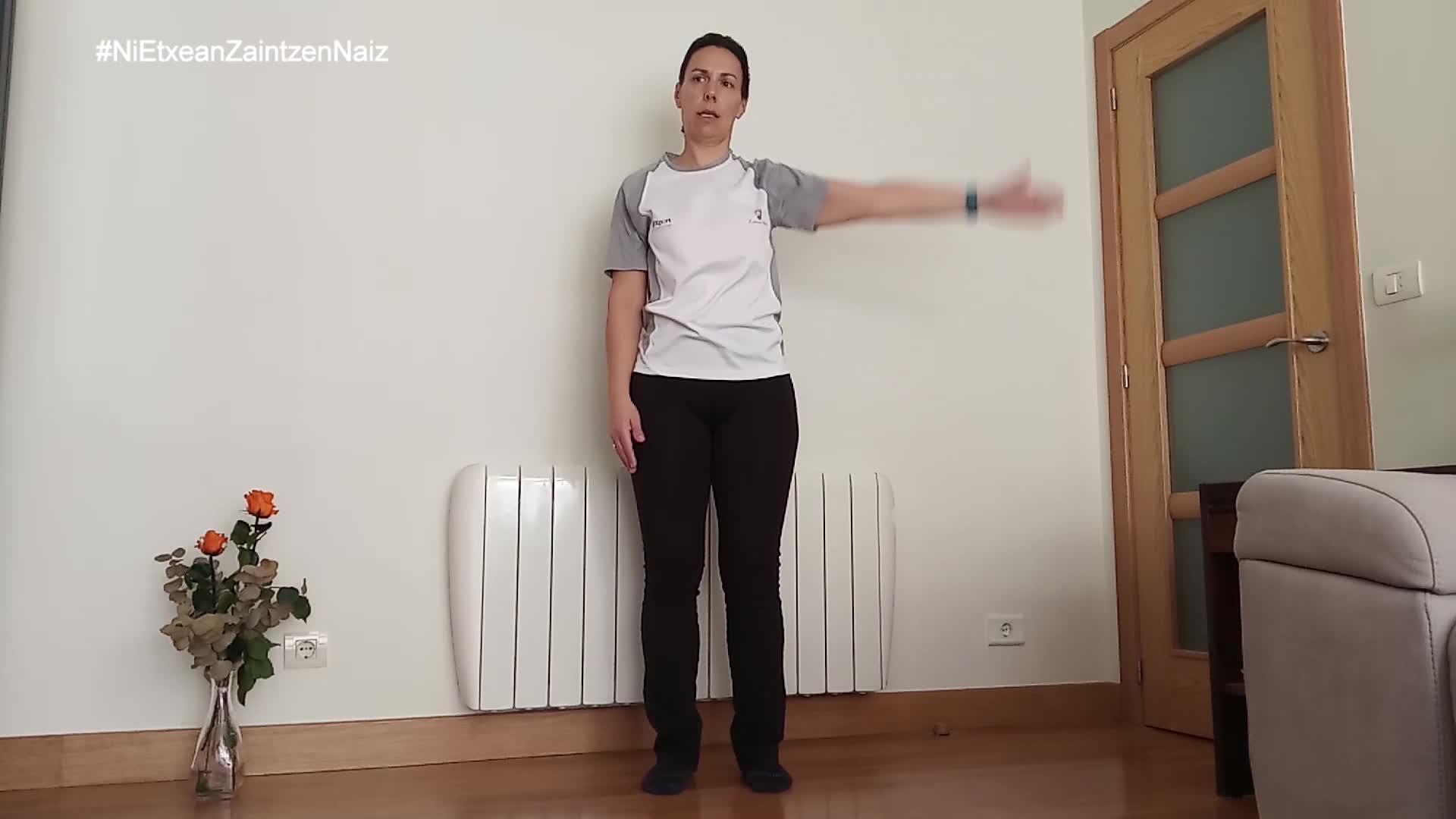 #NiEtxeanZaintzenNaiz: Zarauzko kiroldegiko begiraleen adinekoen 40.saioa