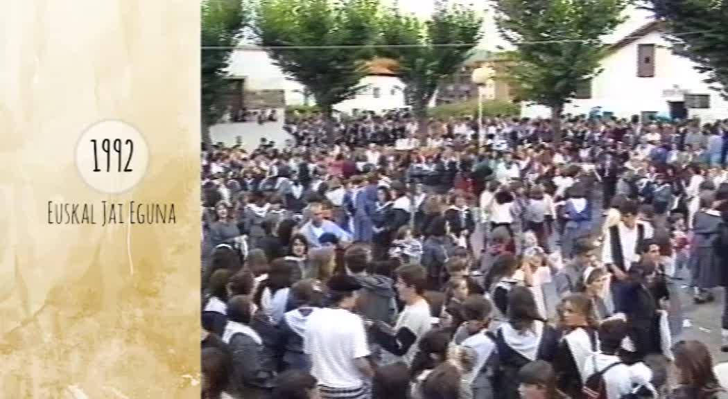 Atzera begira Zarauzko Euskal Jai Eguna 1992