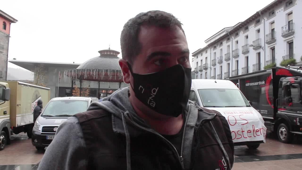 Azpeitiko ostalarien eta hornitzaileen protesta, bideoan