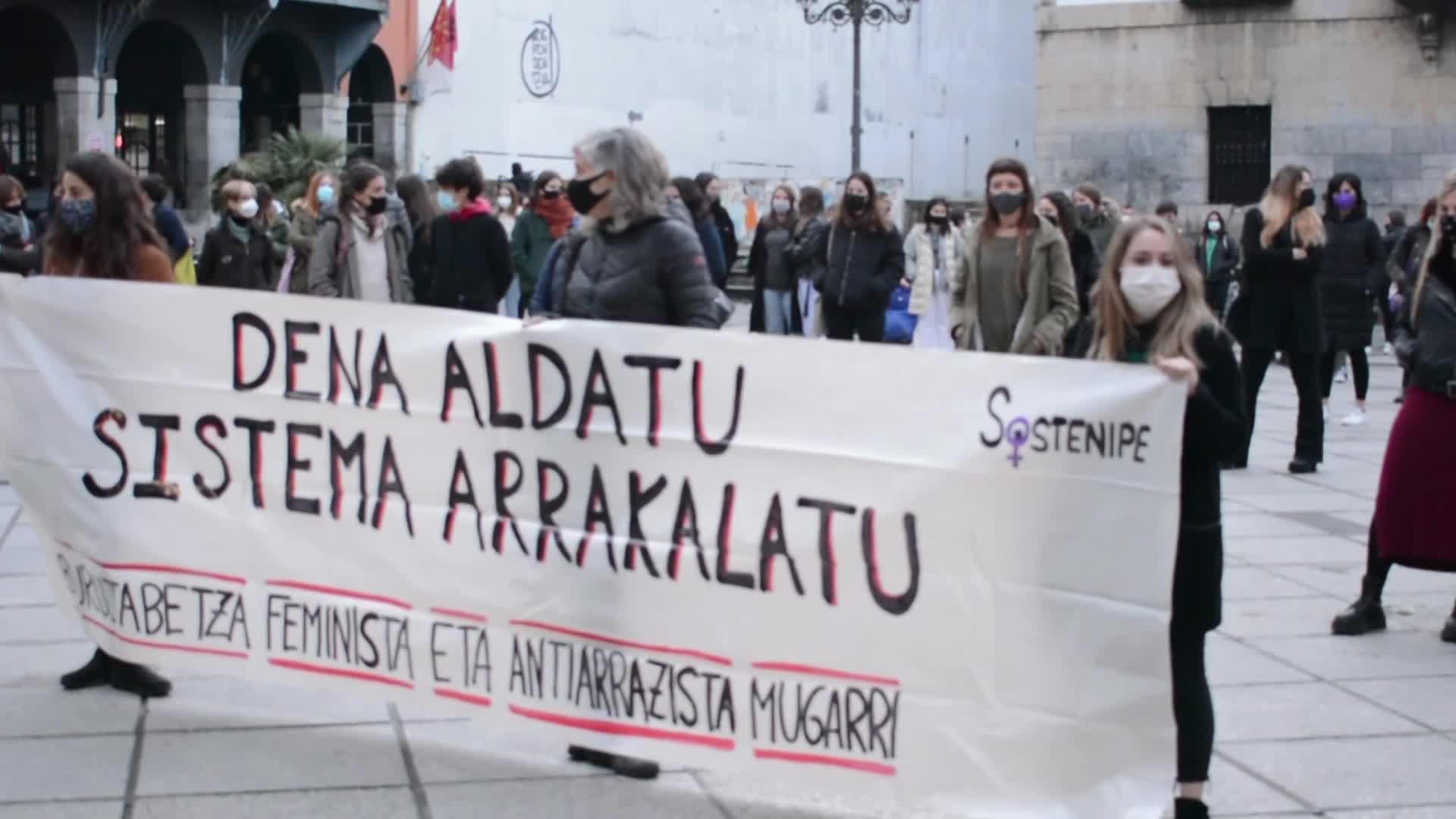 Emakumearen Nazioarteko Egunaren harira, manifestazio eta elkarretaratzeak egin dituzte eskualdean