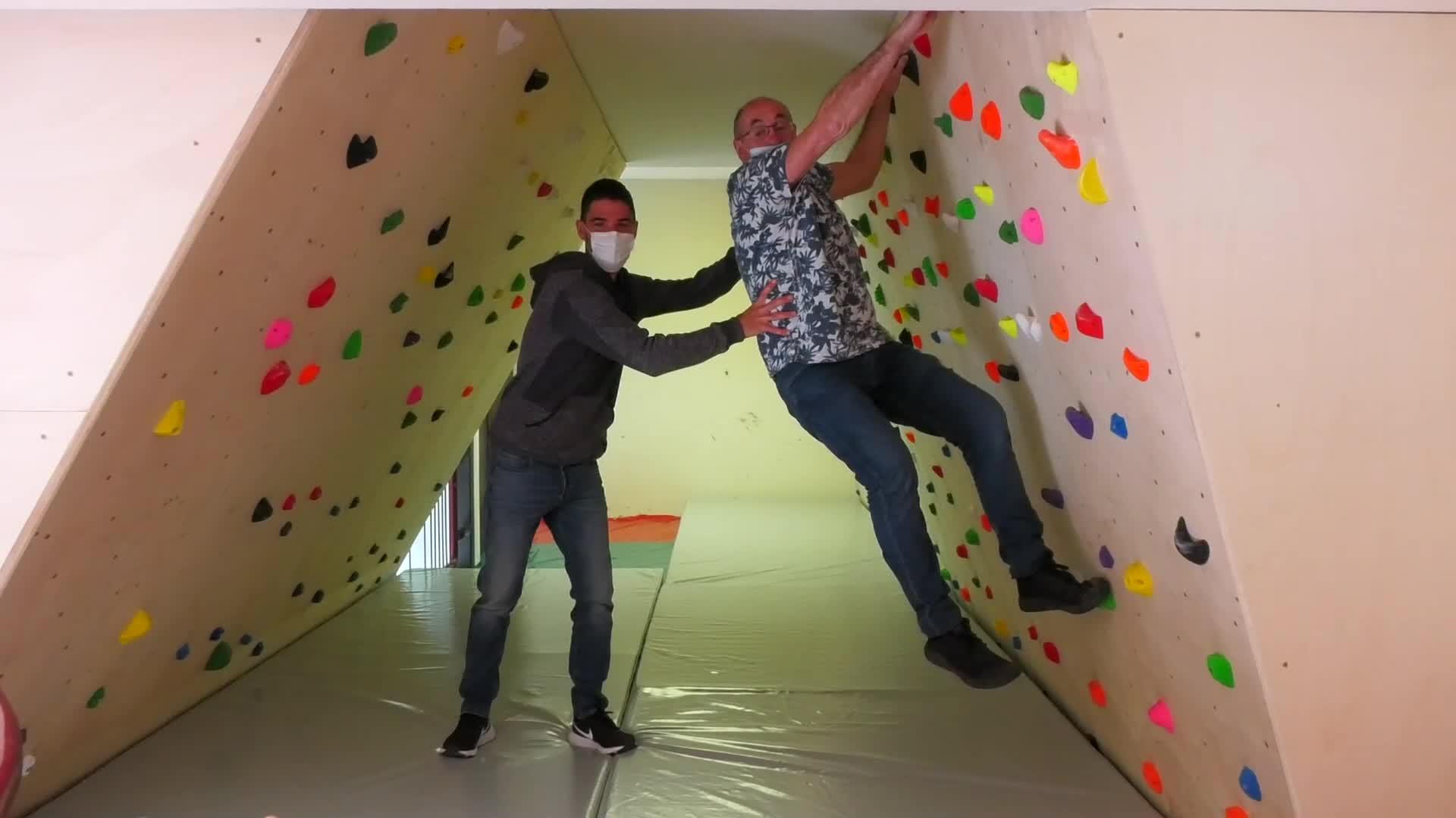 Boulderra jarri dute Getariako Sahatsaga kiroldegian
