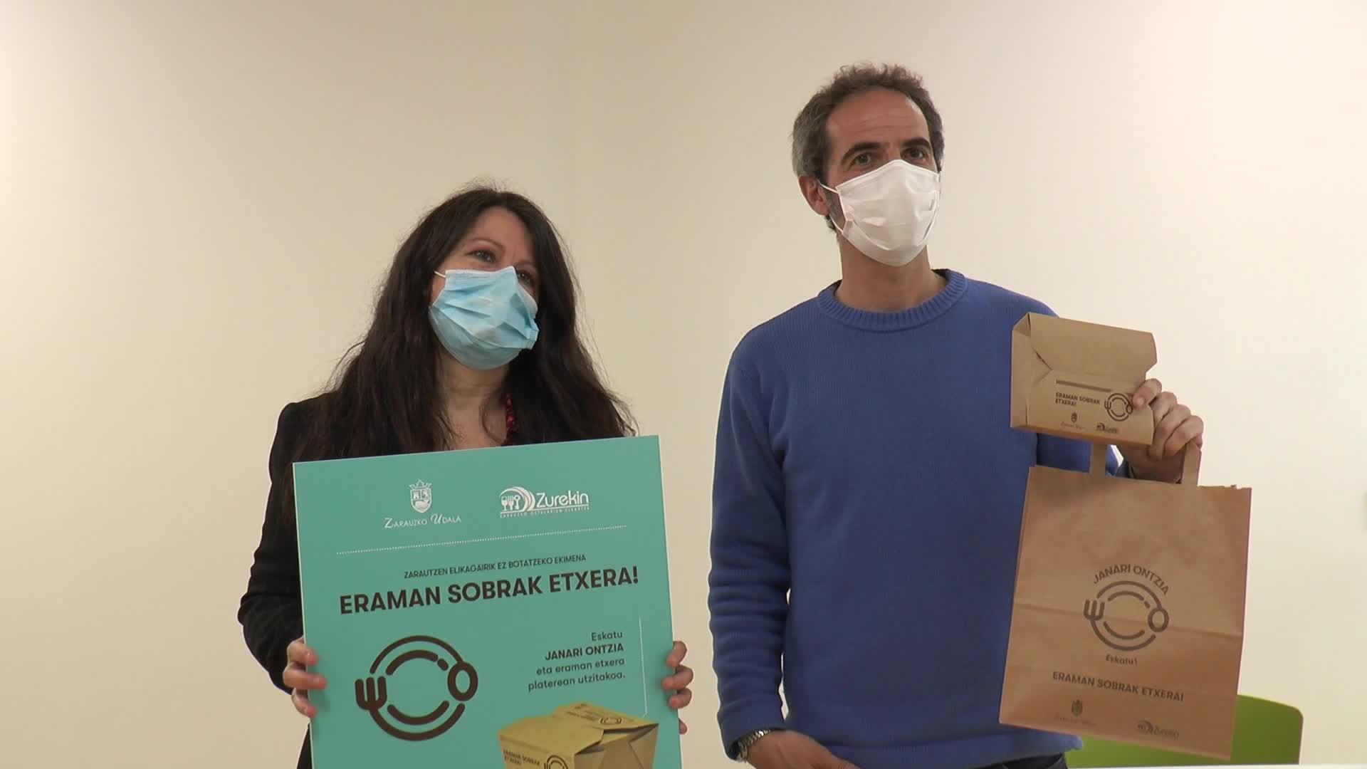 Elikagaien xahuketa ekiditeko, 'Gourmet Bag' ekimena jarri du martxan Zarauzko Udalak