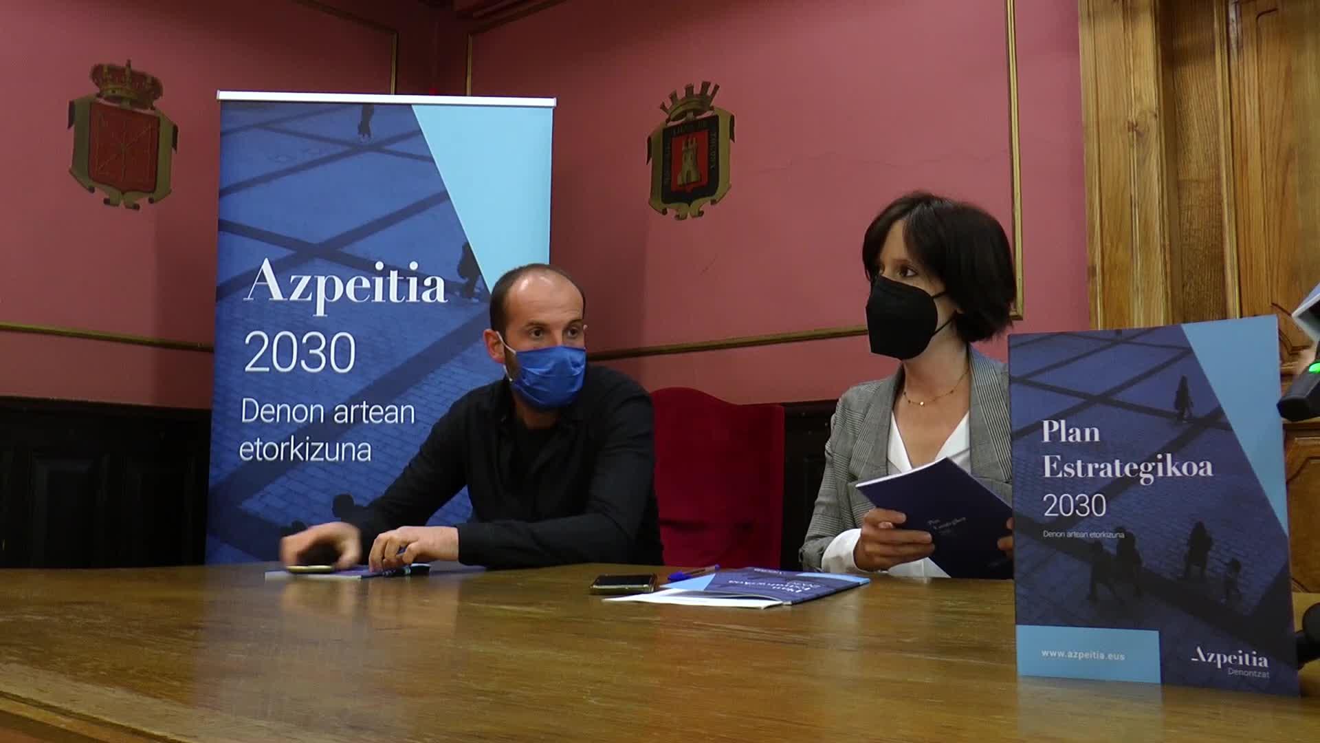 Azpeitiarren bizi kalitatea hobetzea helburu duen Azpeitia 2030 plan estrategikoa aurkeztu du udalak